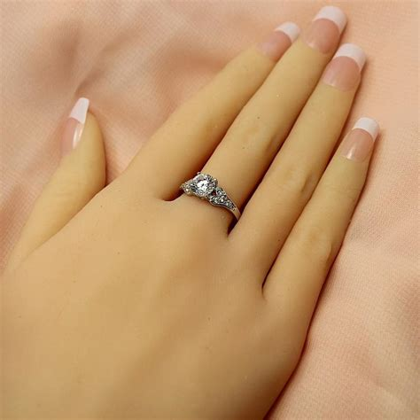 2014 new authentic korean version diamond ring wedding ring finger ring finger ring pave