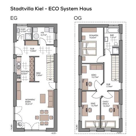 Grundriss Haus Schmales Grundstück by Grundriss Einfamilienhaus Schmal Mit Klinker Fassade