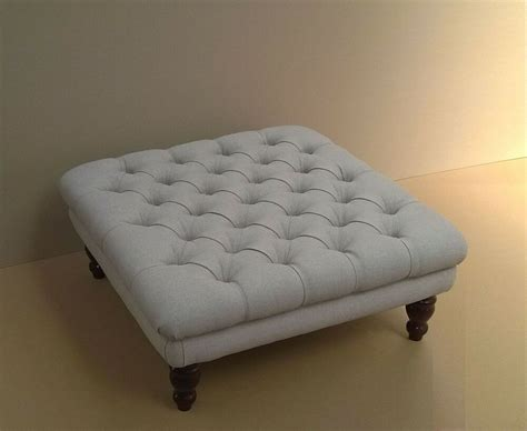 Large Fabric Ottomans by Square Chesterfield Buttoned Large Footstool Coffee