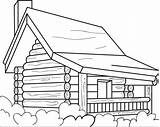 Cabin Coloring Log Pages Printable Simple Colouring Drawing Cottages Cabins Woods Wood Drawings Sheets Easy Logs Case Books Designs Adults sketch template