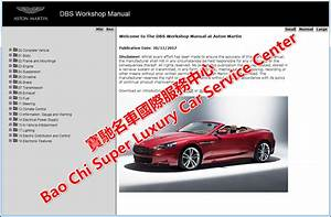 Astonmartin Vantage Vanquish Dbs Db9 Db7 Workshop Manual