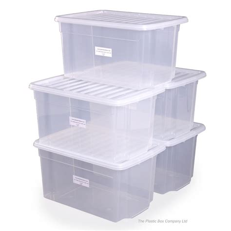storage box buy 50lt uni plastic storage boxes with lids free delivery