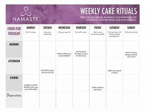 thrive a personal self care plan worksheet namaste With self care plan template