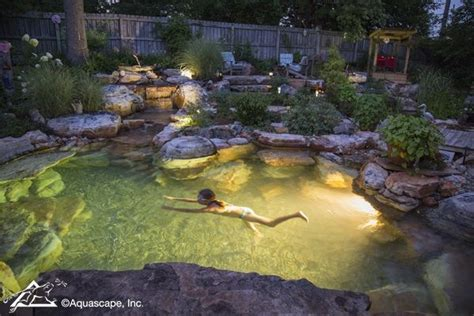 Aquascape Swimming Pools by Pretty Backyard Lighting Ideas For Your Pond Waterfall