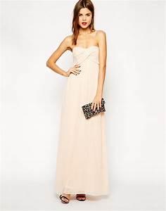 robe bustier longue rose pale pour mariage la robe longue With robe bustier rose