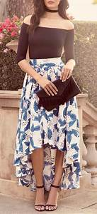 Choker Skirts and High low on Pinterest