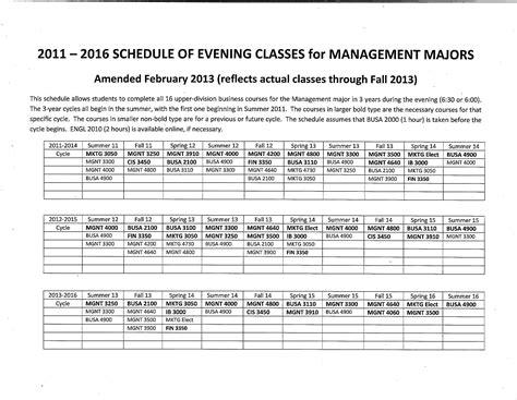 evening class schedule valdosta state university
