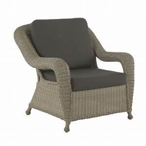 Salon Rotin Exterieur : fauteuil d 39 ext rieur en rotin synth tique brin d 39 ouest ~ Teatrodelosmanantiales.com Idées de Décoration