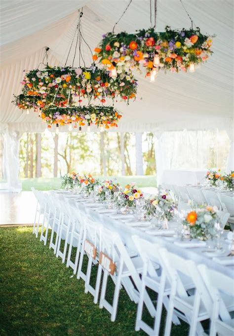 29 Gorgeous Wedding Floral Chandeliers That Will Blow Your