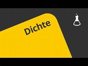 Chemie Dichte Berechnen : definition der dichte chemie allgemeine und anorganische chemie youtube ~ Themetempest.com Abrechnung