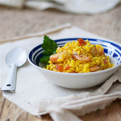 saffron  shrimp risotto recipe marcia kiesel food