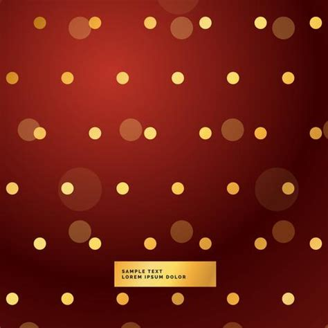 red background  golden polka dots