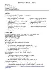 entry level data analyst resume sle 10 data analyst resume sle writing resume sle