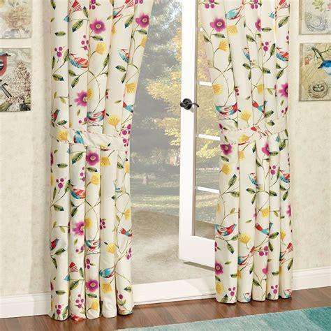 sweet tweet bird floral window treatment