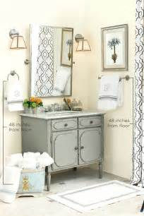 bathroom decorating ideas small bathrooms proper height for towel bars and rings how to decorate