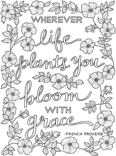 inkspirations inthegarden bloom  grace inspirational art coloring pages inspirational