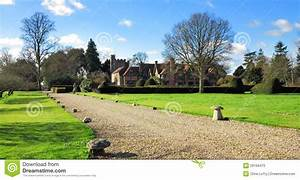 Medieval English Manor House And Garden Royalty
