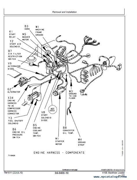 john deere  backhoe loader technical manual