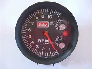 Buy Nos Mallory 11k Rpm Large Diameter Tachometer Built In