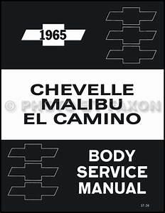 1965 Chevelle  Malibu   U0026 El Camino Wiring Diagram Reprint
