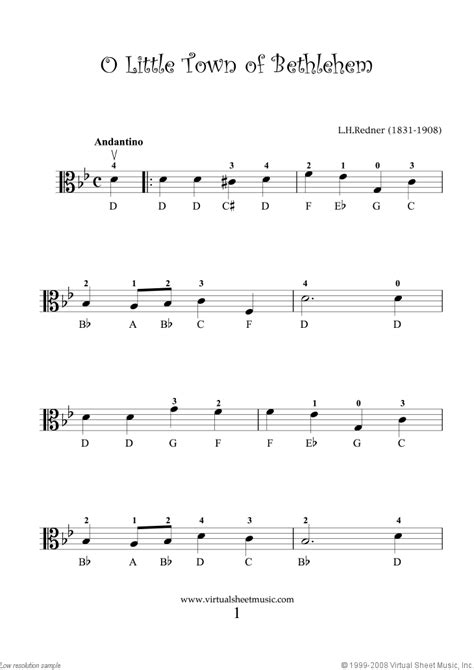 """Download free piano sheets specially selected for beginners. Viola Solo Christmas Sheet Music Carols """"For Beginners ..."""
