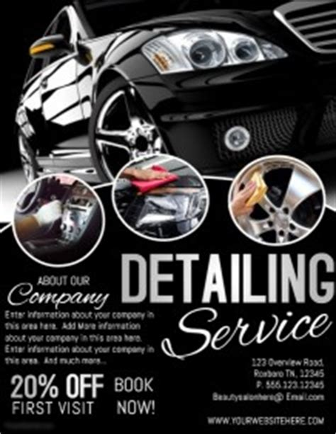 Boat Detailing Flyers by 680 Customizable Design Templates For Car Detailing