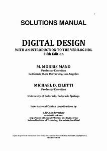 Digital Design 6th Edition Solution Manual Pdf