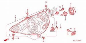 Headlight  1  For Honda Cars Jazz 1 4 S 5 Doors 5 Speed