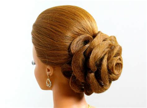 Wedding Hairstyle For Long Hair Tutorial. Hair Made Rose. Updo. What Is The Best Haircut For Fine Hair And Oval Face Simple Messy Bun Long Cute Braided Updos Short Haircuts Thin Male Style Thick Princess Hairstyles Images Oblong Curly Ethnic