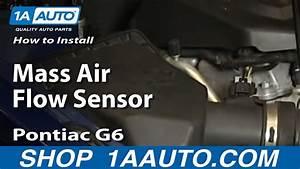 How To Install Replace Mass Air Flow Sensor 2005-2010 Pontiac G6 2 4l 4 Cyl