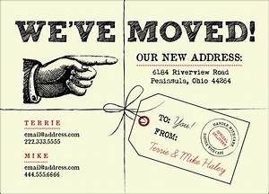 we39ve moved postcards With we have moved cards templates