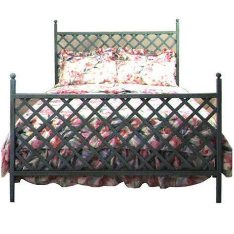 buy lattice wrought iron headboard size king metal