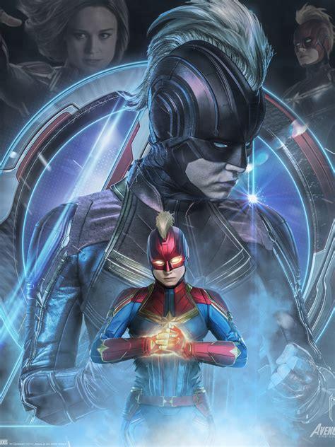 1536x2048 Avengers Endgame Captain Marvel Poster Art ...