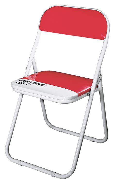 chaise pliante pantone plastique structure metal