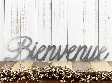 Bienvenue French Welcome Metal Wall Art | Welcome ...