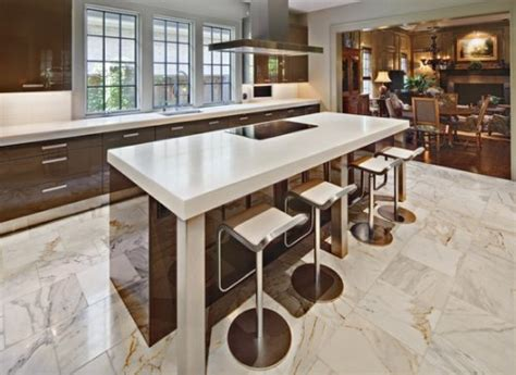 marble tile in kitchen best floor for kitchen design homesfeed 7373