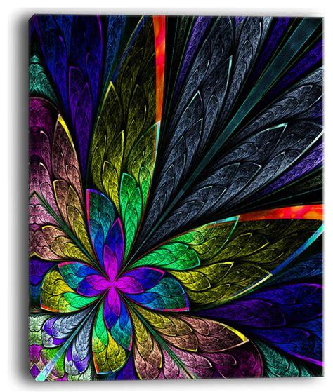 quot multi color fractal flower pattern quot large canvas print