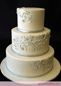 silver wedding silver white wedding cake wedding cakes