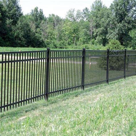 barrette black aluminum fence panel gate  lowes fencing outdoor