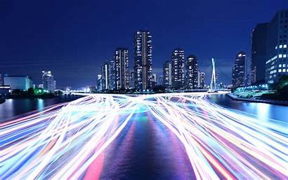 4k 8k Night Wallpapers Architecture Road River