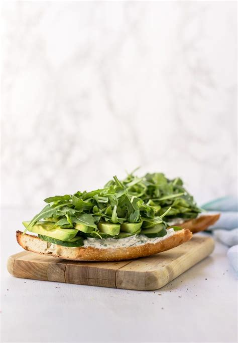 Healthy Vegetarian Cucumber And Avocado Sandwich The