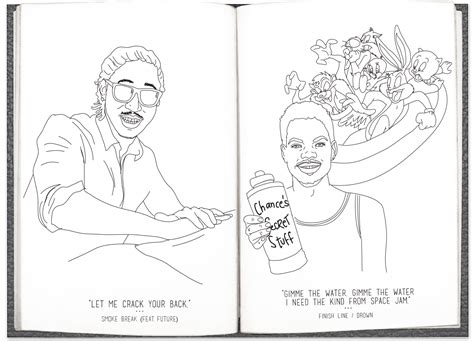 heres  literally  chance  rapper coloring book    color   interns