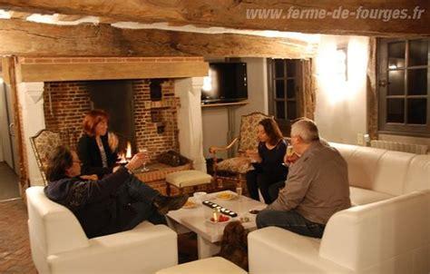 chambre normandie la ère salon avec cheminée photo de domaine de la