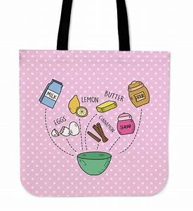 Baking Diagram Linen Tote Bag  U2013 Groove Bags