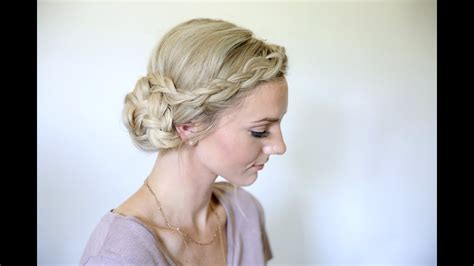 Braided Side Bun Hairstyles by Easy Braided Side Bun Homecoming Hairstyles