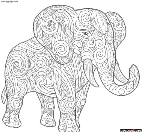 elephant mandala coloring pages collection  coloring