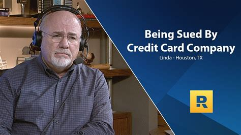 But even if you've already received notice of a lawsuit, it's not too late to settle your credit card debt before you end up going to. Being Sued By Credit Card Company   Dave ramsey, Investing, Combining finances