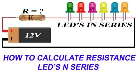 connect leds  series  calculate current