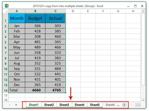 how to copy data from into multiple worksheets in excel