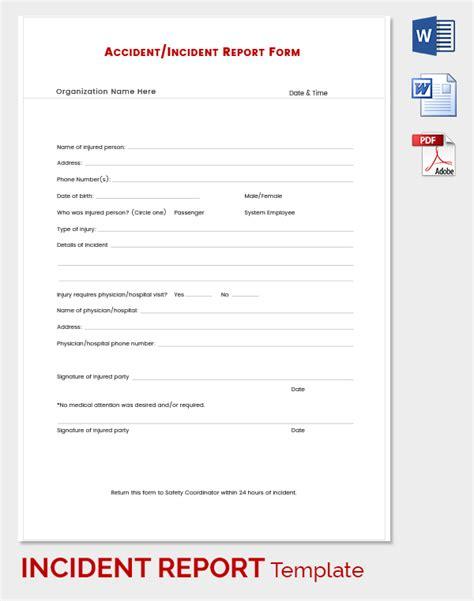incident report template word incident report template 39 free word pdf format free premium templates